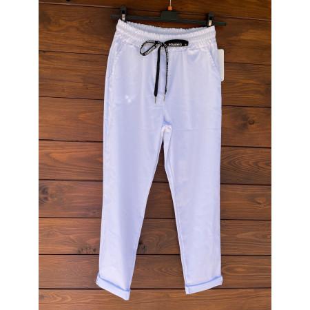 Pantalone coulisse bianco